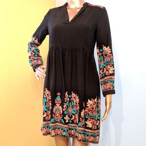 Anthropologie Embroidered Avery Dress